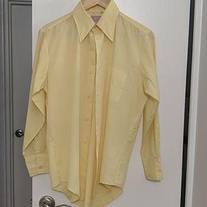 Yellow Long Sleeve Button Down Shirt